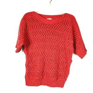 Chico's Size 1 ( M / 8 ) Open Stitch Sweater 54E